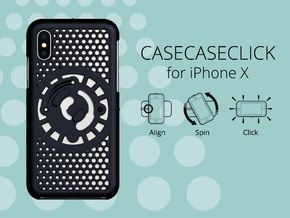 for iPhone X : cel : CASECASE CLICK in Black Natural Versatile Plastic
