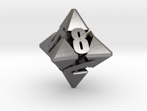 Hextrapyramidical d8 in Polished Nickel Steel