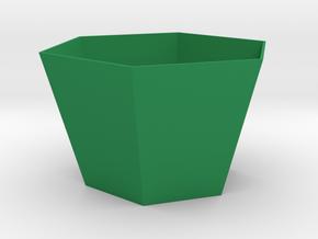 Angled-Up Hexagonal Planter in Green Processed Versatile Plastic