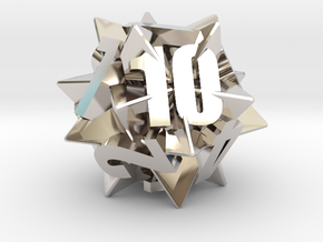 Icosatetrahedra d12 in Platinum