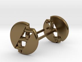 Pie Lattice Earrings 1 in Polished Bronze