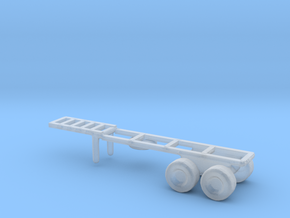 1/200 Scale M126 Semitrailer Chassis in Smooth Fine Detail Plastic