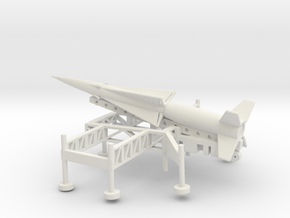 1/160 Scale Nike Ajax Laucher And Missile in White Natural Versatile Plastic