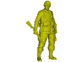 1/24 scale D-Day US Army 101st Airborne soldier in Smooth Fine Detail Plastic