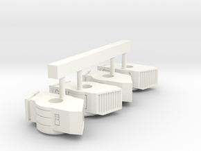 6mm Killer Whale Engines (4) in White Processed Versatile Plastic