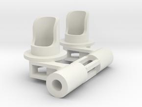 5mm left side single signal head 3/32 in White Natural Versatile Plastic
