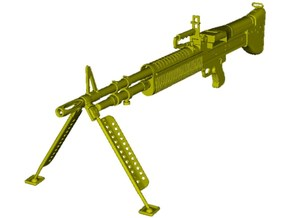 1/24 scale Saco Defense M-60 machinegun x 1 in Smooth Fine Detail Plastic