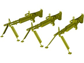1/24 scale Saco Defense M-60 machineguns x 3 in Smooth Fine Detail Plastic