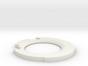 Graflex Lip UPDATED for 2.0 (7/8) in White Natural Versatile Plastic