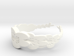 Floral Wreath Ring in White Processed Versatile Plastic