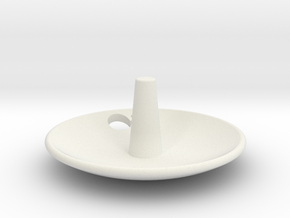 Enterprise Jewelry Dish Full Cut Out in White Natural Versatile Plastic