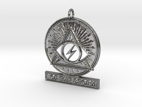 I OF THE STORM Pendant in Polished Silver