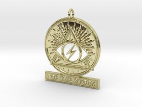 I OF THE STORM Pendant in 18k Gold
