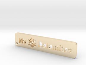 MyTinyDolomites - key holder Winter 2018 in 14k Gold Plated