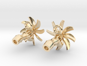 TP400 turboprop A400M engine earrings in 14k Gold Plated Brass