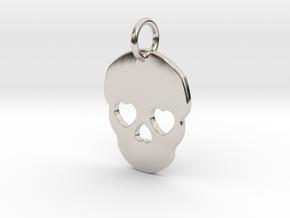 Cute Skull in Rhodium Plated Brass