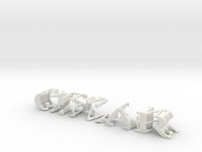 3dWordFlip: OSCAR/BALLANTYNE in White Natural Versatile Plastic