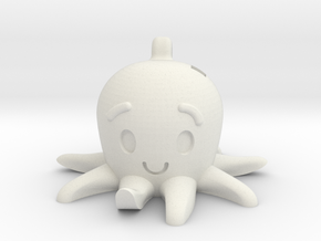 Friendly Octopus Buddy in White Natural Versatile Plastic