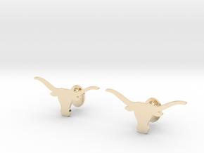 Texas Longhorns Cufflinks, Customizable in 14K Yellow Gold