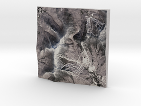 """Mount Mansfield / Stowe Mountain - Winter: 6"""" in Full Color Sandstone"""