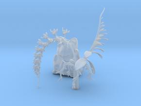 Imperial Moth Orchid in Maneki Neko Planter, 220mm in Smooth Fine Detail Plastic