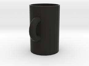 cup.stl in Black Natural Versatile Plastic