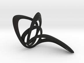 Looplooploop Ring Size US 8.0 in Black Premium Strong & Flexible