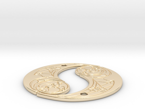 TLJ Pendant (Double) in 14k Gold Plated Brass