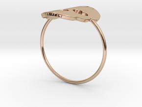 Cute Skull Ring in 14k Rose Gold Plated Brass