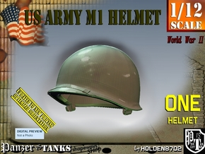 1/12 US M1 Helmet in White Natural Versatile Plastic