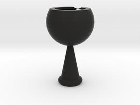Red wine glass in Black Premium Versatile Plastic