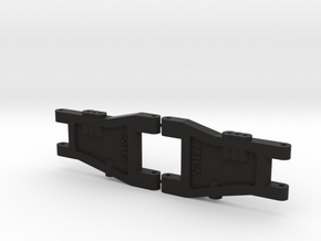 Top Force One-Piece Rear Arms in Black Natural Versatile Plastic