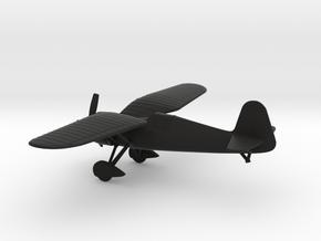 PZL P.24 in Black Natural Versatile Plastic: 1:100