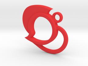 Steemit Valentine's Keychain in Red Processed Versatile Plastic