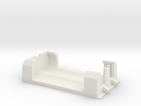 HP25-Battery-Holder in White Natural Versatile Plastic