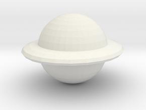 Saturn in White Natural Versatile Plastic