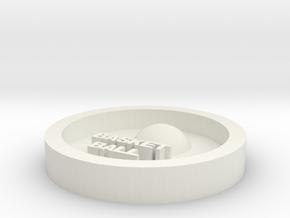 DIY key ring basketball in White Natural Versatile Plastic