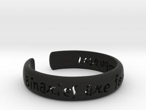 Binaries Are For Computers Open Cuff Bangle in Black Premium Versatile Plastic