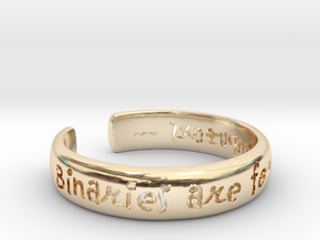 Binaries Are For Computers Open Cuff Bangle in 14K Yellow Gold