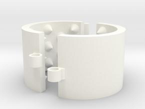 Kalis Grip 36/5/03 - 5 Rows in White Processed Versatile Plastic