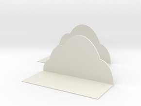 Clouds shelves in White Natural Versatile Plastic