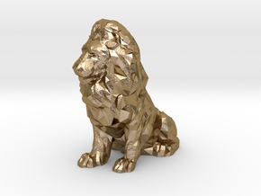 Lion doll in Polished Gold Steel