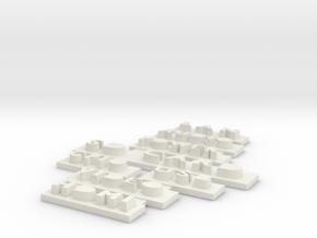 Raspberry Pi B case - bottom text in White Natural Versatile Plastic