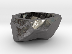 Natural Necessities Rock A in Polished Nickel Steel: Small