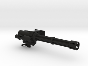 1.7 GUNSHIP MINIGUN in Black Natural Versatile Plastic