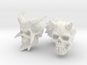 Three Skull set -Demonic and Undead in White Natural Versatile Plastic