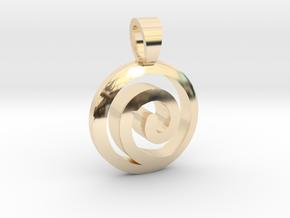 Uzumaki Family [pendant] in 14k Gold Plated Brass