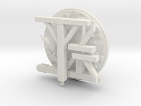 Gallows, 28mm, Heroic Scale in White Natural Versatile Plastic