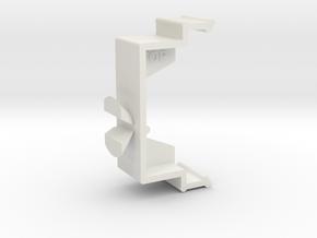 Blind Valance Clip 10E in White Premium Versatile Plastic