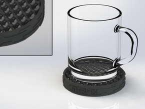 Diamond-structure coaster in Black Strong & Flexible